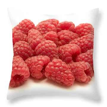 Raspberries Throw Pillow by Fabrizio Troiani