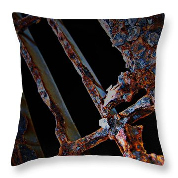Rat In The Cage Throw Pillow by Empty Wall