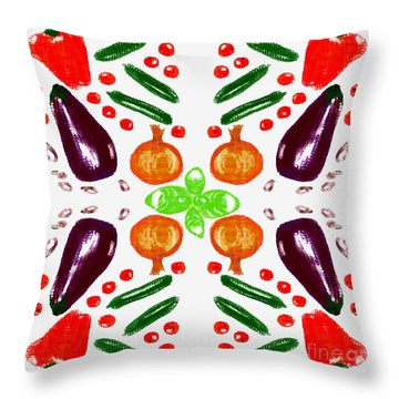Throw Pillow featuring the digital art Ratatouille by Barbara Moignard