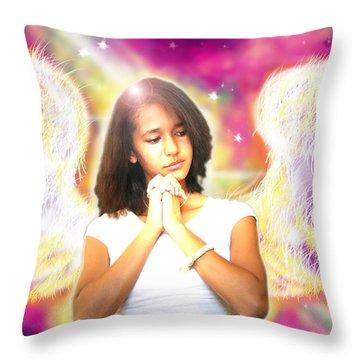 Ravert.angelic 2 Throw Pillow by Nada Meeks