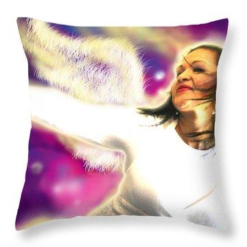 Ravert.angelic 3 Throw Pillow by Nada Meeks