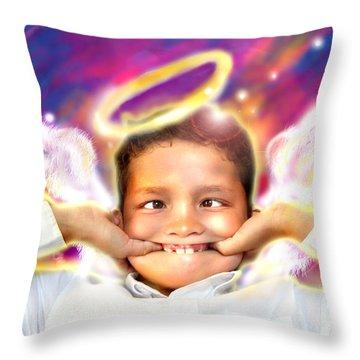 Ravert.angelic 4 Throw Pillow by Nada Meeks