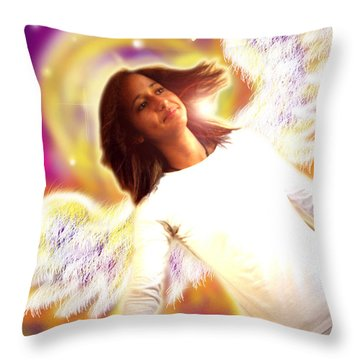 Ravert.angelic 6 Throw Pillow by Nada Meeks