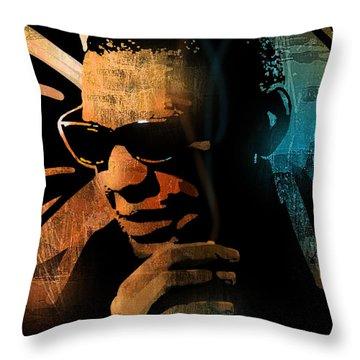 Ray Charles Throw Pillow by Paul Sachtleben
