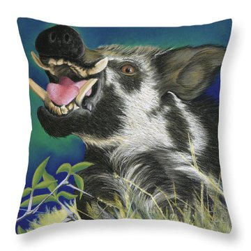 Razorback Throw Pillow by Tracy L Teeter