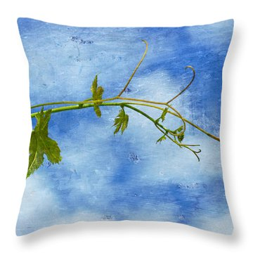 Reaching Out Throw Pillow by Heidi Smith
