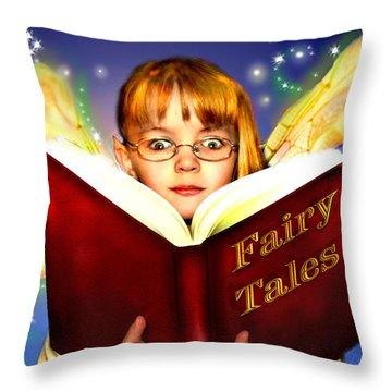 Read More Fairy Tales Throw Pillow