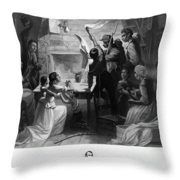 Reading Emancipation Proclamation Throw Pillow by Photo Researchers