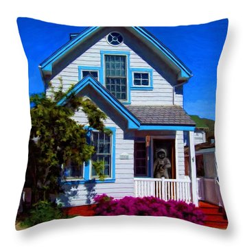Ready For Takeoff Throw Pillow by Snake Jagger