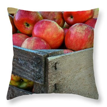 Ready To Eat Throw Pillow by Susan Herber