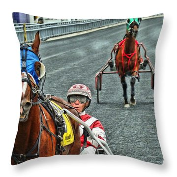 Throw Pillow featuring the photograph Ready To Race by Alice Gipson