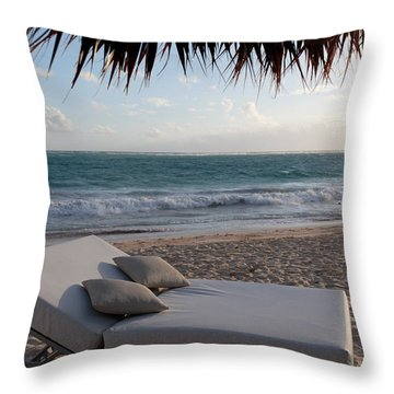 Throw Pillow featuring the photograph Ready To Relax On A Tropical Beach by Karen Lee Ensley