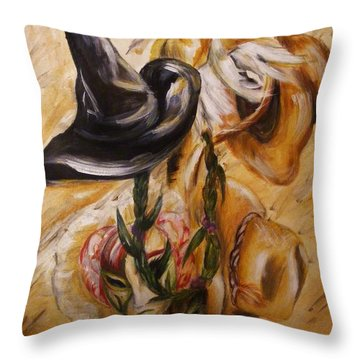 Real Women Wear Many Hats Throw Pillow