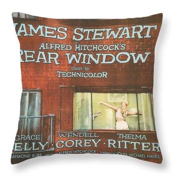 Rear Window Throw Pillow by Georgia Fowler