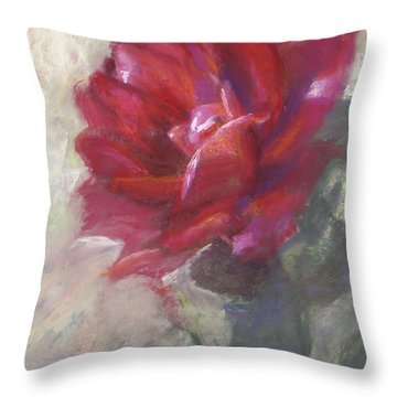 Reba's Rose Throw Pillow