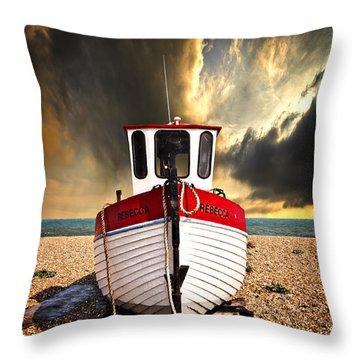 Rebecca Throw Pillow by Meirion Matthias