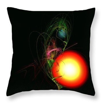 Rebirth Throw Pillow by Adam Vance