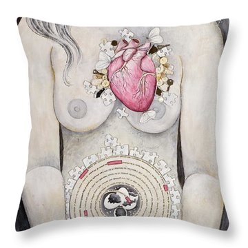 Throw Pillow featuring the painting Rebirth Of Venus by Sheri Howe