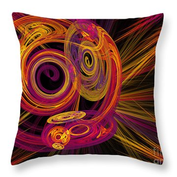 Record Time Machine Throw Pillow by Andee Design