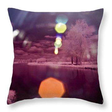 Recurring Light Throw Pillow