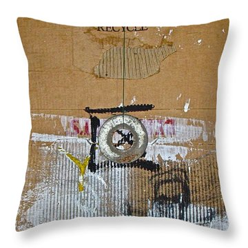 Recycle  Throw Pillow by Cliff Spohn