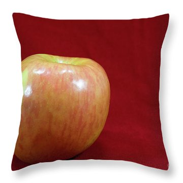 Throw Pillow featuring the photograph Red Apple by Michael Waters