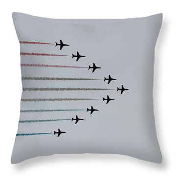 Red Arrows Horizontal Throw Pillow by Jasna Buncic