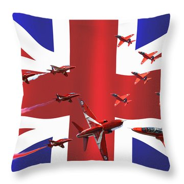 Red Arrows Union Jack Throw Pillow