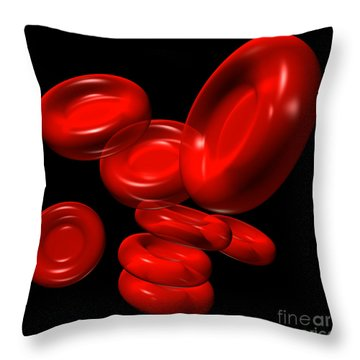 Red Blood Cells 2 Throw Pillow
