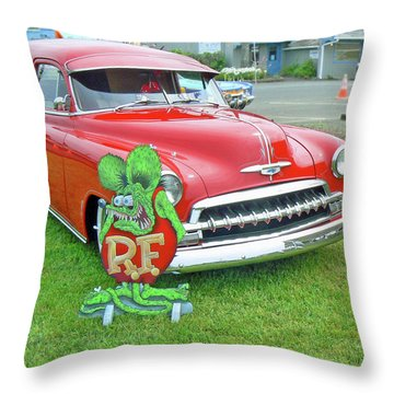 Red Bow Tie Throw Pillow by Pamela Patch