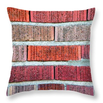 Red Brick Wall Throw Pillow by Henrik Lehnerer