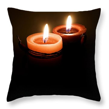 Red Candles Throw Pillow