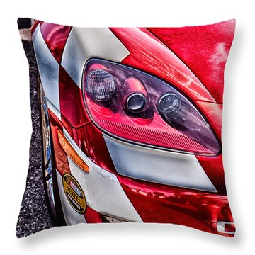 Red Corvette Throw Pillow by Lauri Novak