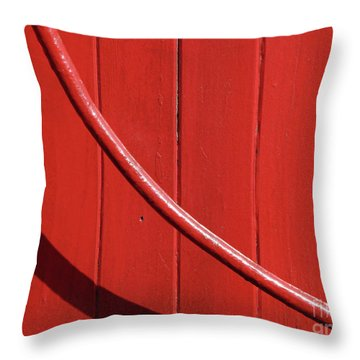 Throw Pillow featuring the photograph Red Curve by Newel Hunter
