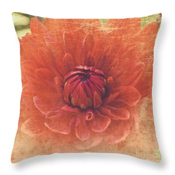 Throw Pillow featuring the photograph Red Dahlia by Alana Ranney