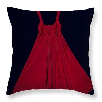 Red Dress Throw Pillow by Joana Kruse