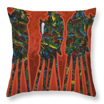 Red Dust Throw Pillow by Lance Headlee
