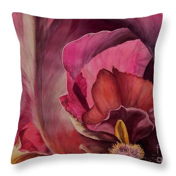 Red Explosion   Sold Throw Pillow