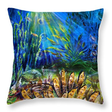 Red Eye Odyssey Throw Pillow