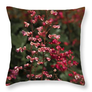 Red Flowers Throw Pillow by Svetlana Sewell