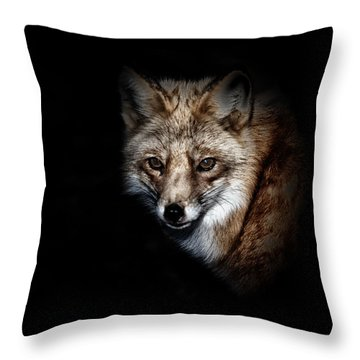 Red Fox Throw Pillow by Karol Livote