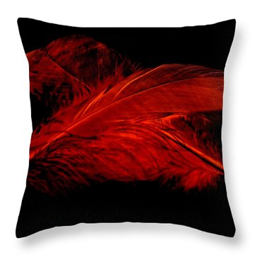 Red Ghost On Black Throw Pillow by Steve Purnell