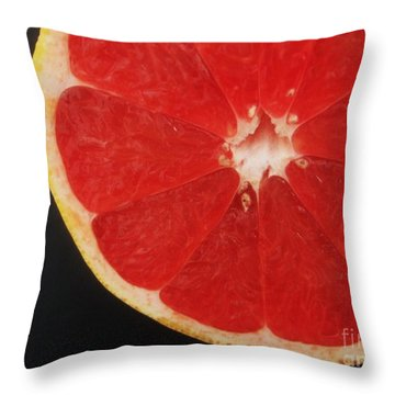 Throw Pillow featuring the photograph Red Grapefruit by Jasna Gopic