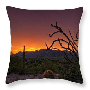 Red Hot Sunset  Throw Pillow by Saija  Lehtonen