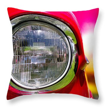 Red Hot Throw Pillow by Vicki Pelham