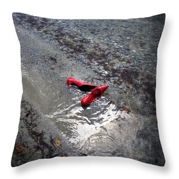 Red Is Swimming Throw Pillow by Joana Kruse