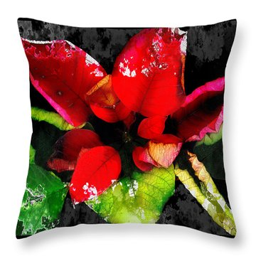 Red Leaves Throw Pillow by Mauro Celotti
