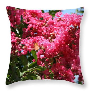 Throw Pillow featuring the photograph Red Lilac Bush by Michael Waters