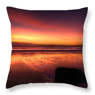 Red Morning Throw Pillow by Svetlana Sewell
