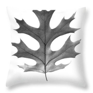 Red Oak Leaf Throw Pillow